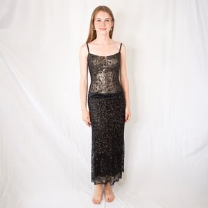 VINTAGE COUTURE Embellished Gown Rare Handmade